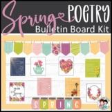 Spring Bulletin Board - Poetry / Poems - In-Person & Virtu