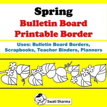 picture regarding Printable Boarders identified as Spring Bulletin Board Printable Borders for Coloring