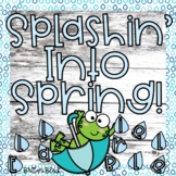 Spring Bulletin Board | Rain Writing Craft