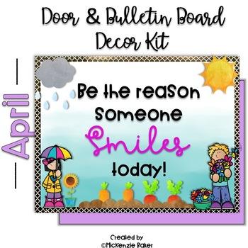 Spring Bulletin Board and Door Decor Kit