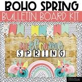Spring Bulletin Board or Door Decor - Boho Rainbow Theme