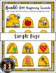 Spring Bumble Bee Beginning Sounds Match File Folder Literacy Center Activity