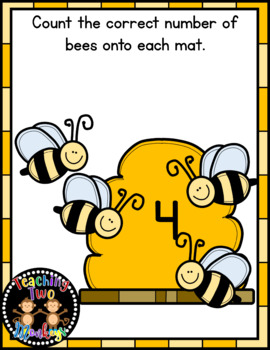 Spring Bumble Bee Counting Mats Math Center Activity (Numbers 1-20)