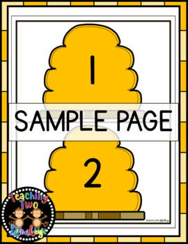 Spring Bumble Bee Number Sort Math Center Activity (Numbers 1-20)