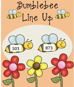 Spring Bumblebee Line up- MATH place value