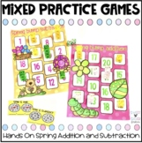 Spring Addition and Subtraction Bump Games