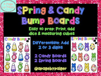 Spring Bump Games - Differentiated Addition of 2 and 3 Digits