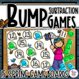 Spring Bump Games for Subtraction using 1 dice