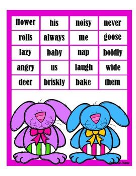 Spring Bump - Nouns, Pronouns, Verbs, Adjectives, Adverbs