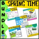Speech Therapy Spring Adapted Books | Picture Activities Mixed Groups Bundle