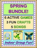 """""""Spring Bundle!"""" - Active Games, Crafts, and Songs for Indoor Fun!"""