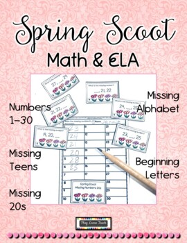 Spring Bundle Alphabet Match Patterns Number Puzzles