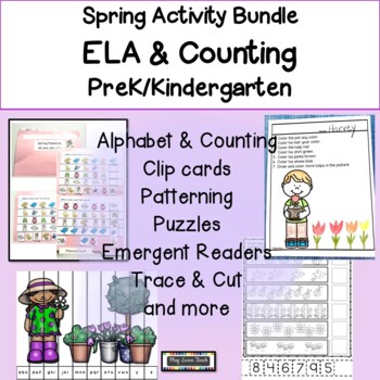 Spring Alphabet Match Patterns Number Puzzles