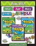 Spring Bundle - Fix-Its NO PREP (2nd-4th) - (Mar/Apr/May)