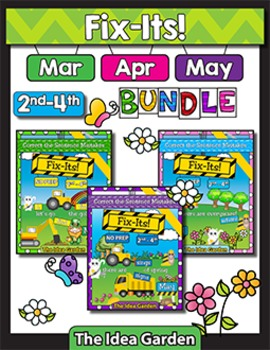 Spring Bundle - Fix-Its NO PREP (2nd-4th) - (Mar/Apr/May)