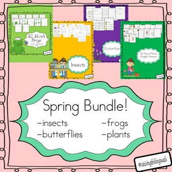 Spring Bundle! (Frogs, plants, butterflies, insects)