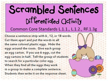 Spring Bundle - Little Old Lady Who Swallowed...and Scrambled Sentences
