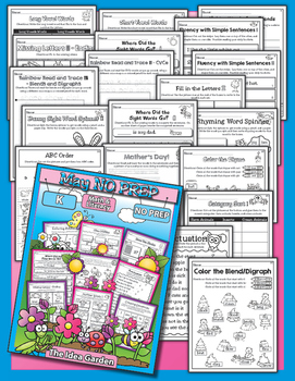 Spring Bundle - NO PREP Math & Literacy (Kindergarten) - Mar/Apr/May