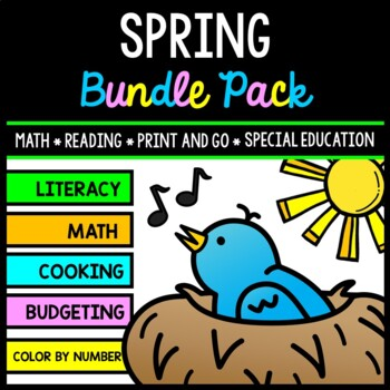 Spring Bundle - Special Education - Life Skills - Print and Go - Reading - Math