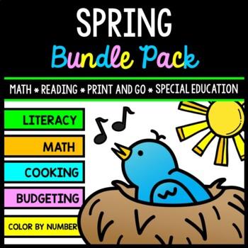 Spring Bundle - Special Education - Life Skills - Print an
