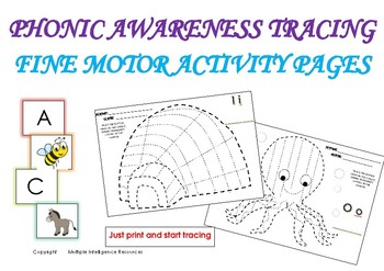 END OF THE YEAR ACTIVITIES - PHONIC AWARENESS TRACING - FINE MOTOR PAGES
