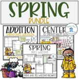 Spring Bundle for Writing Addition and Math