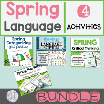 Spring Bundle of Language Activities for Speech Therapy