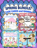 Bundle Back to School Math Games and Task Cards  Grades 1 - 2