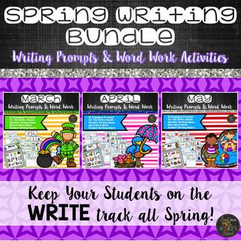 Spring Writing Prompts Bundle