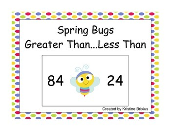 Spring Bugs Greater Than - Less Than