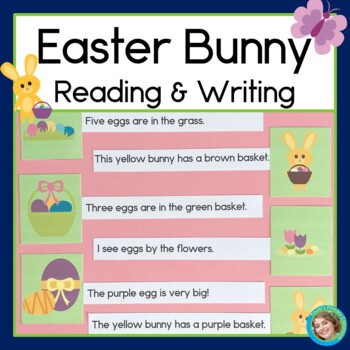 Spring Bunnies Sentence Picture Match Reading Center