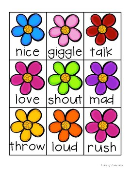 Spring Bunnies and Flowers: Synonyms Match Center (Basic)