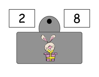 Spring Bunny Addition Scoop Math to 10