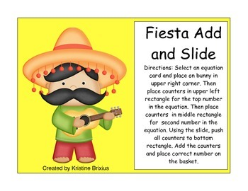Fiesta Cinco de Mayo Themed Addition Scoop Math to 10