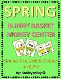 Spring Bunny Basket Money Center - Grades K to 2 Math Center
