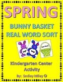 Spring Bunny Basket Real Word Sort