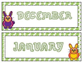 Spring Bunny Bulletin Board Calendar