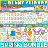 Spring Bunny Clip Art Bundle