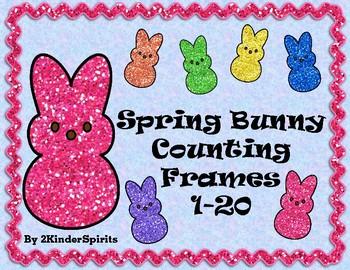 Spring Bunny Counting Mats 1-20