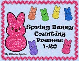 Spring Bunny Counting Mats 1-20