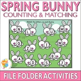 Spring Bunny Counting and Matching File Folder Activities