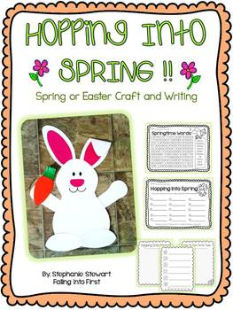 Spring Bunny Craftivity and Writing (Hopping Into Spring)
