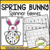 Spring Bunny (Easter) Spinner Games - Math & Literacy, Pre-K Preschool