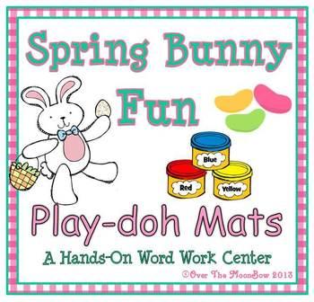 Spring Bunny Fun Playdoh Activity Pack
