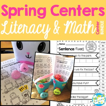 Spring Bunny Leprechaun Literacy & Math BUNDLE