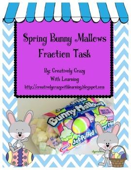 Spring Bunny Marshmallow Fraction Task