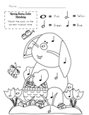 Spring Bunny Music Note Coloring Activity
