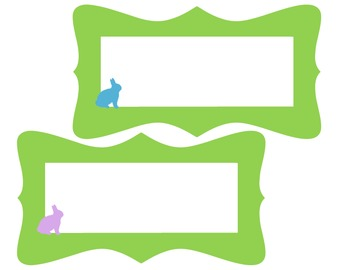 Spring Bunny Name Plates and Tags