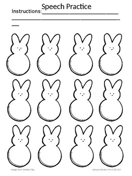 Spring Bunny Open Ended Speech/Language Activity