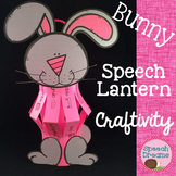 Spring Bunny Easter Paper Lantern Speech Therapy Craft